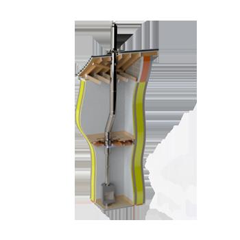 Двустенный дымоход с изоляцией 25 мм для дымохода Vilpra в Минске